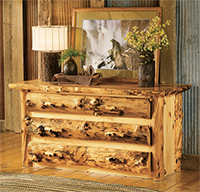 Aspen Grizzly 6 Drawer Dresser