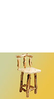 Aspen Grizzly Barstool with Back No Swivel