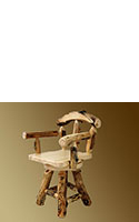 Aspen Grizzly Barstool with Back and Swivel