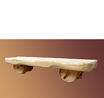 Aspen Grizzly 2' Wall Shelf