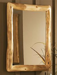Bath Log Mirror