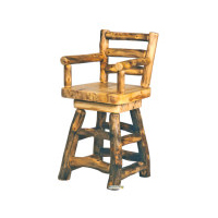 """24"""" or 30"""" Barstool with back, arms and swivel"""