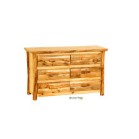 "Rustic Arts 54"" wide 6-Drawer Dresser"