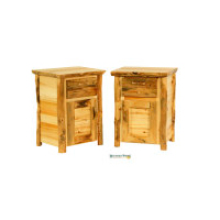 Rustic Arts 1-Drawer, 1-Door Nightstand