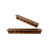 Wyoming Collection 6 or 7-Peg Coat Rack with Shelf