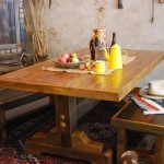 Black Mountain Trestle Base Dining Table